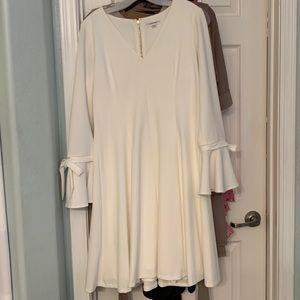 Calvin Klein bell sleeve swing dress